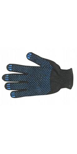 Перчатки хлопчатобумажные с ПВХ Точка черные